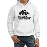 Rhino's Life Hooded Sweatshirt - Black Logo