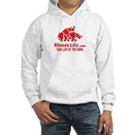 Rhino's Life Hooded Sweatshirt - Red Logo