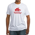Rhino's Life Fitted T-Shirt - Red Logo