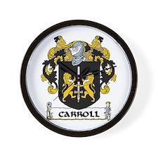 Carroll Coat of Arms Wall Clock