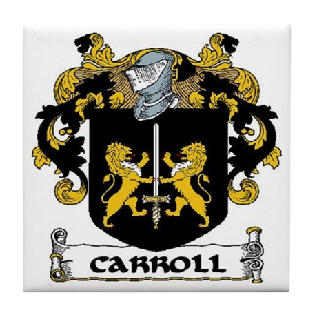 Carroll Coat of Arms Tile Coaster
