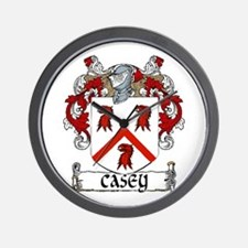 Casey Coat of Arms Wall Clock