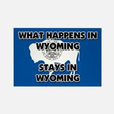 What Happens In WYOMING Stays There Rectangle Magn