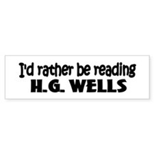 H.G. Wells Bumper Bumper Sticker