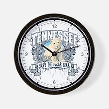 Polar Bear Tennessee Wall Clock