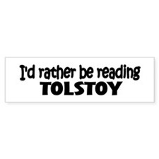 Tolstoy Bumper Bumper Sticker