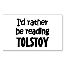 Tolstoy Rectangle Decal