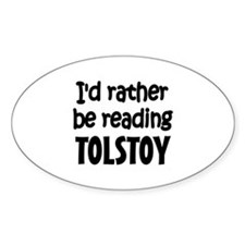 Tolstoy Oval Decal