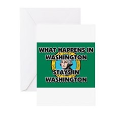 What Happens In WASHINGTON Stays There Greeting Ca