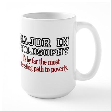 Major in Philosophy Large Mug