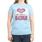 All wanted was Backrub Women's Light T-Shirt