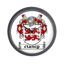 Clancy Coat of Arms Wall Clock