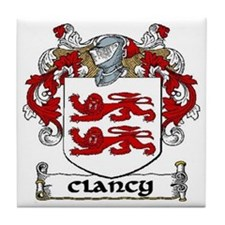 Clancy Coat of Arms Tile Coaster