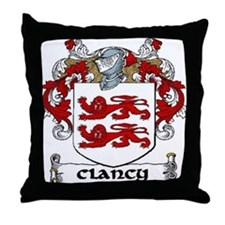 Clancy Coat of Arms Throw Pillow
