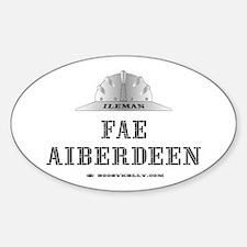 Ileman Fae Aiberdeen Oval Decal