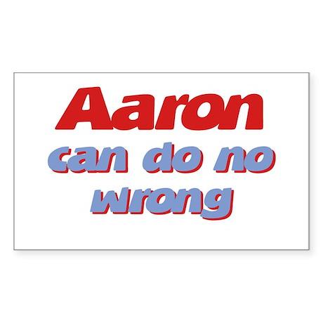 Aaron Can Do No Wrong Rectangle Sticker