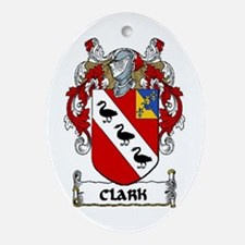 Clark Coat of Arms Ornament (Oval)