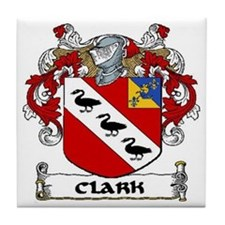 Clark Coat of Arms Tile Coaster