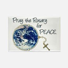 Pray the Rosary for Peace Rectangle Magnet (100 pa