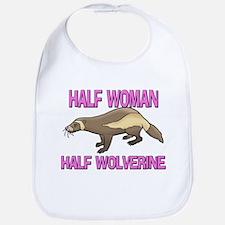 Half Woman Half Wolverine Bib