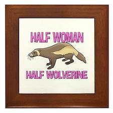 Half Woman Half Wolverine Framed Tile