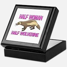 Half Woman Half Wolverine Keepsake Box