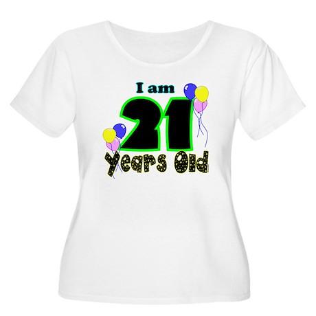 21st Birthday Women's Plus Size Scoop Neck T-Shirt