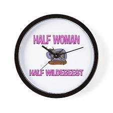 Half Woman Half Wildebeest Wall Clock