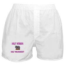 Half Woman Half Wildebeest Boxer Shorts