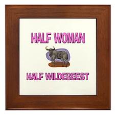 Half Woman Half Wildebeest Framed Tile