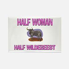 Half Woman Half Wildebeest Rectangle Magnet