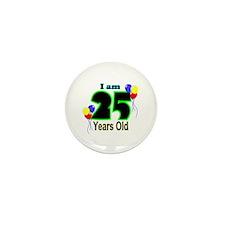 25th Birthday Mini Button (10 pack)