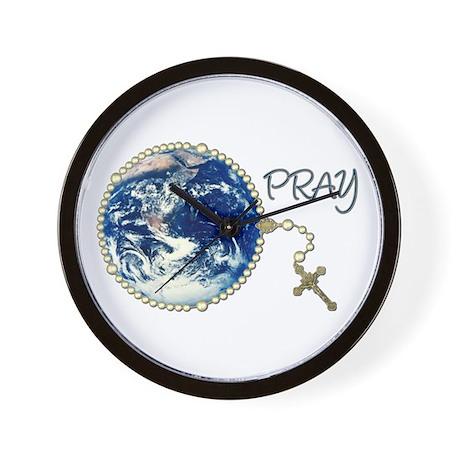 World Prayer Wall Clock