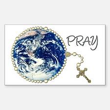 World Prayer Rectangle Decal