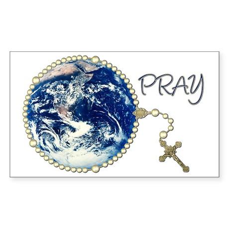 World Prayer Rectangle Sticker