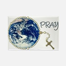 World Prayer Rectangle Magnet