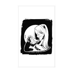 Gillian and Pal Sticker (Rectangular)