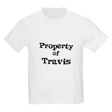 Property of Travis Kids T-Shirt