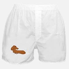 Red Dachshund Boxer Shorts