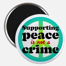 Supporting peace. Magnet