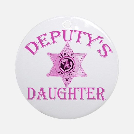 Deputy's Daughter Ornament (Round)