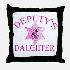 Deputy's Daughter Throw Pillow