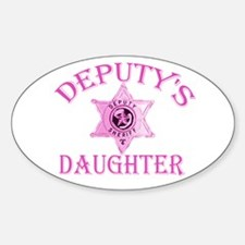 Deputy's Daughter Oval Decal