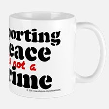 Supporting peace. Mug