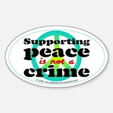 Supporting peace. Oval Decal