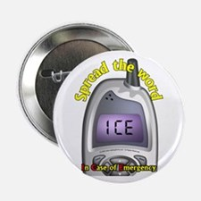 """ICE- Case of Emergency 2.25"""" Button (10 pack)"""