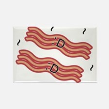 Happy Bacon Rectangle Magnet