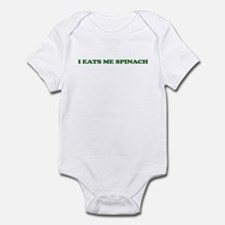 I Eats Me Spinach Infant Bodysuit