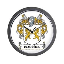 Collins Coat of Arms Wall Clock