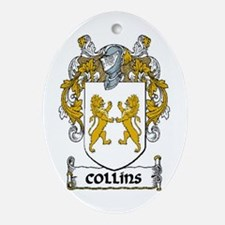 Collins Coat of Arms Ornament (Oval)
